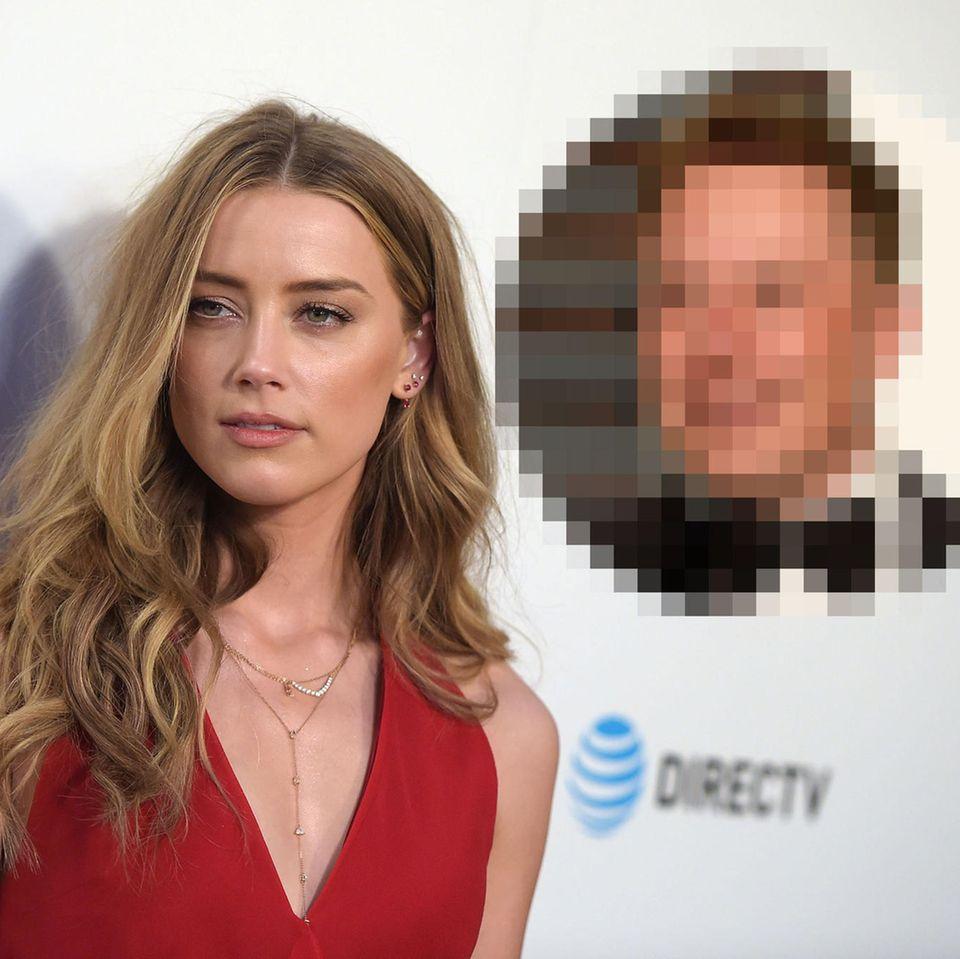 Amber Heard und Elon Musk mit Kussfoto