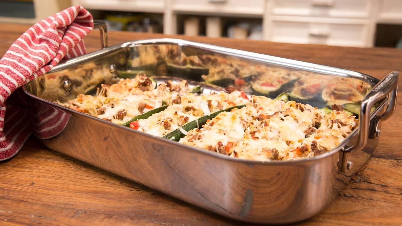 Rezept gefullte zucchini faschiertes