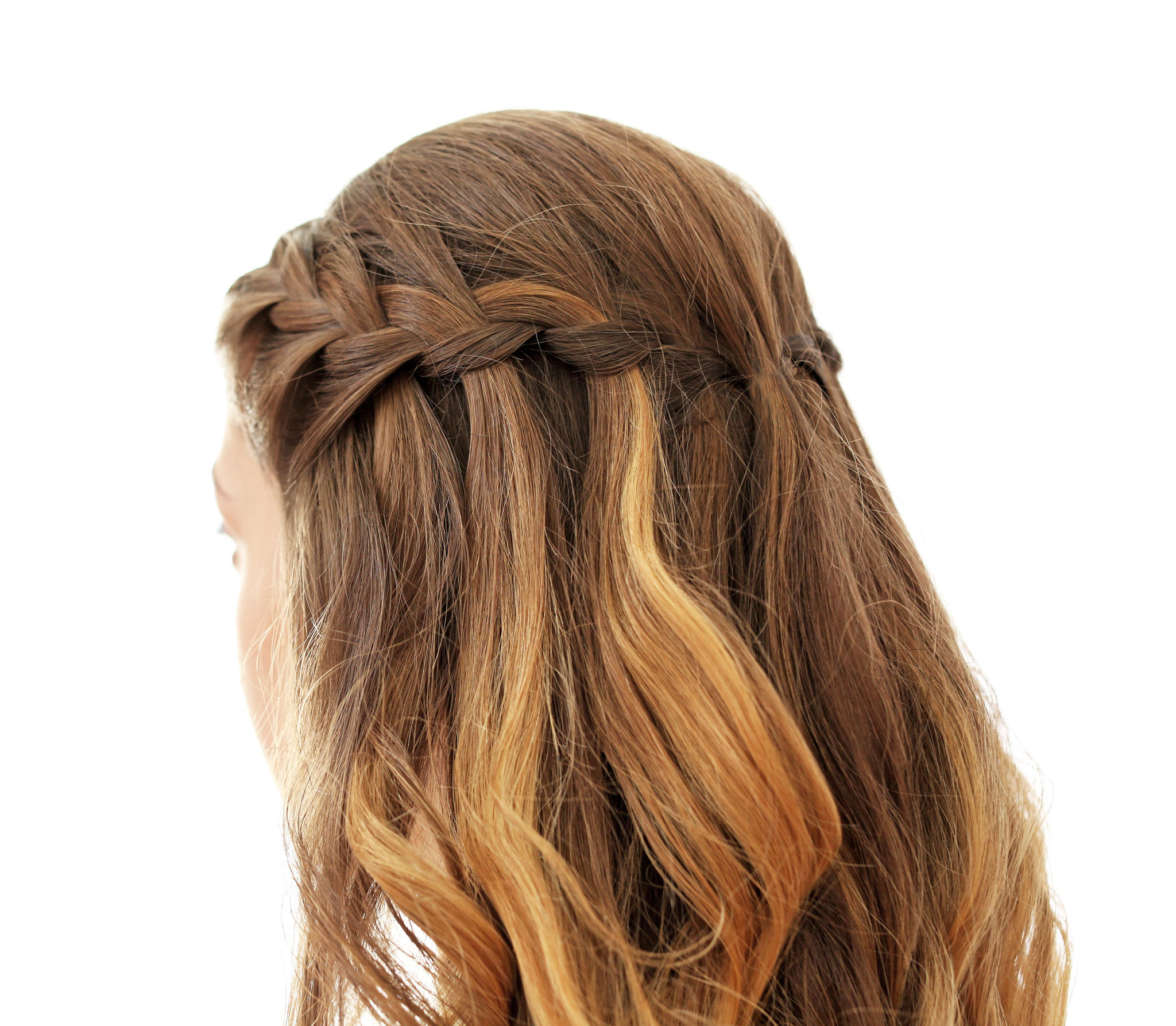 Flechtfrisuren - so geht der der Waterfall Braid (Wasserfallzopf)