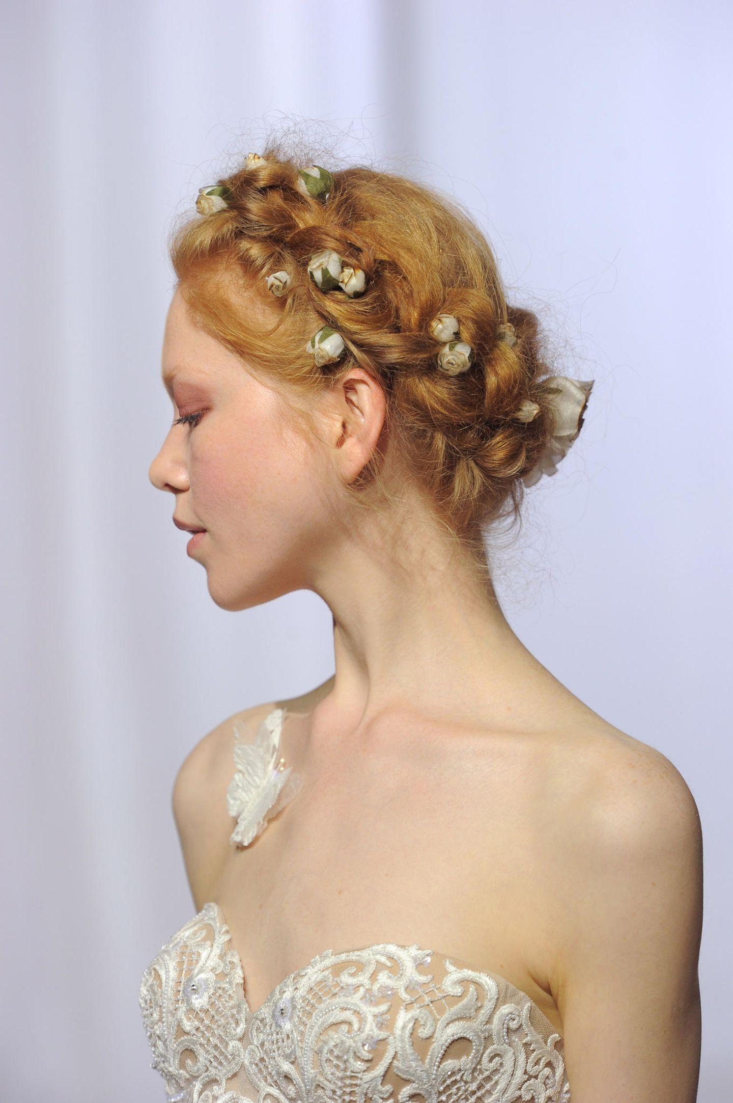 Brautfrisur für lange, feine Haare