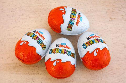 Supermärkte stoppen den Verkauf von Überraschungs-Eiern