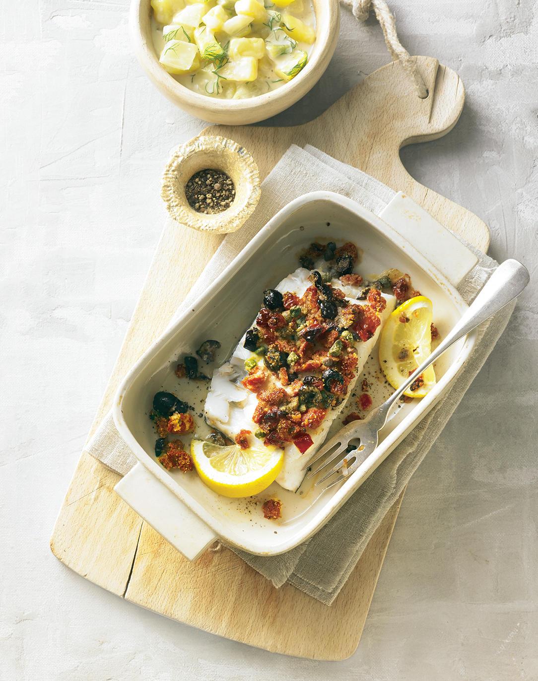 Gratinierter Schellfisch mit Kartoffel-Fenchel-Gemüse