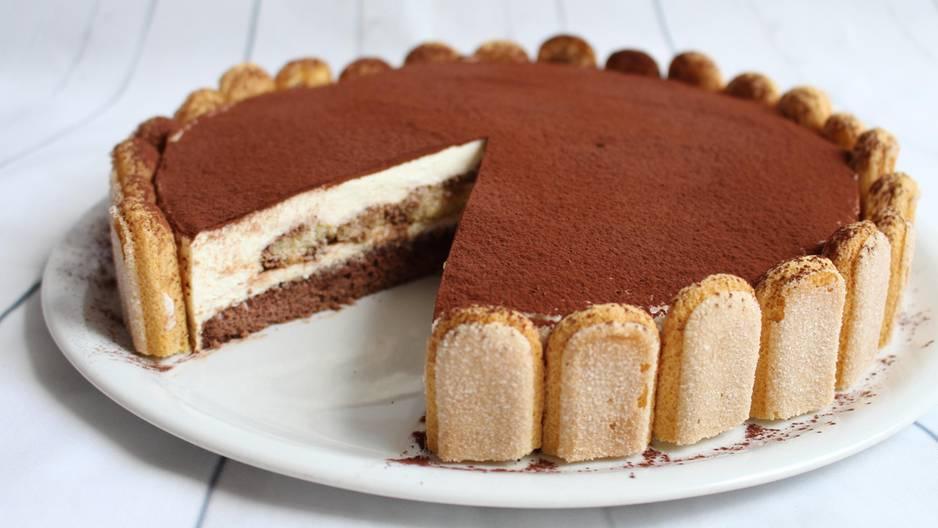 Luftig leichte Tiramisu Torte