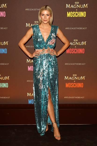 Lena Gercke in einer Paillettenrobe in Cannes 2017