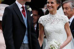 Das Brautkleid von Pippa: in der Nahansicht