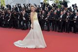 Heike Makatsch in einem zweiteiligen Outfit in Cannes 2017