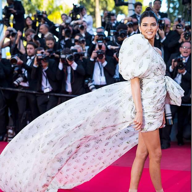 Kendall Jenner und Heike Makatsch auf dem roten Teppich in Cannes 2017