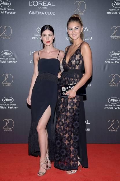 Lena Meyer-Landrut und Stefanie Giesinger in Cannes 2017