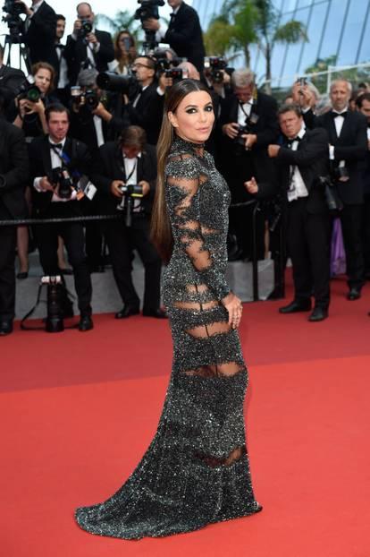 Eva Longoria in einem transparenten Kleid in Cannes 2017