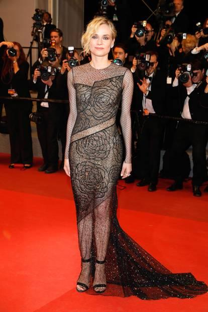Diane Kruger in einem transparenten Abendkleid in Cannes 2017