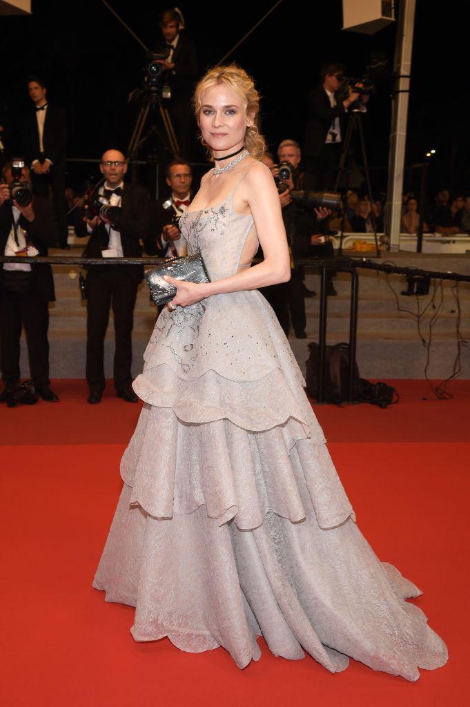 Diane Kruger in einem fliederfarbenen Ballkleid in Cannes 2017