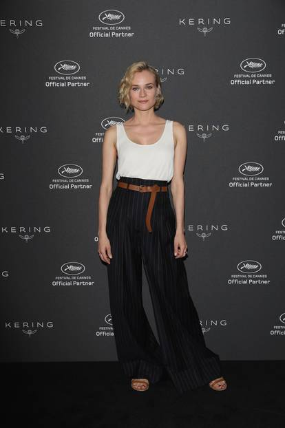 Diane Kruger in einer Palazzo Hose in Cannes 2017