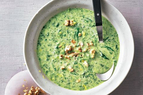 Gorgonzola-Spinat-Suppe