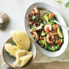 Bauernsalat mit Oktopus