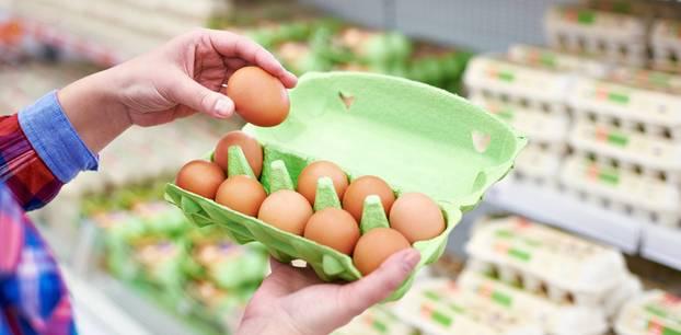 Ungekühlte Eier