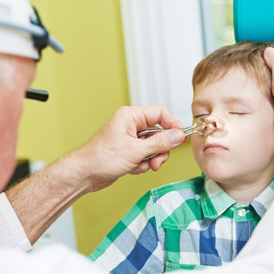 Kind, Arzt, Nase