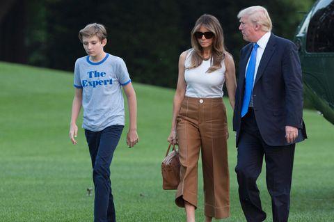 Familie Trump kehrt aus dem gemeinsamen Wochenende in New Jersey zurück ins Weiße Haus