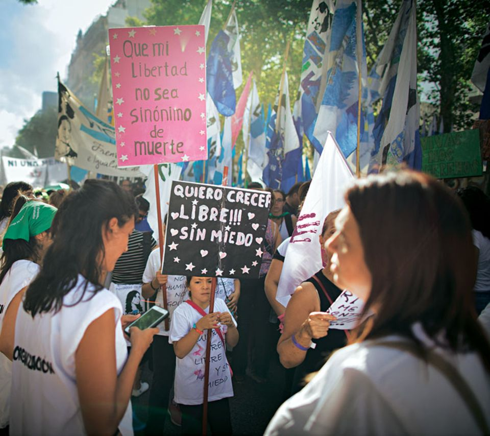 Demonstrantinnen in Buenos Aires