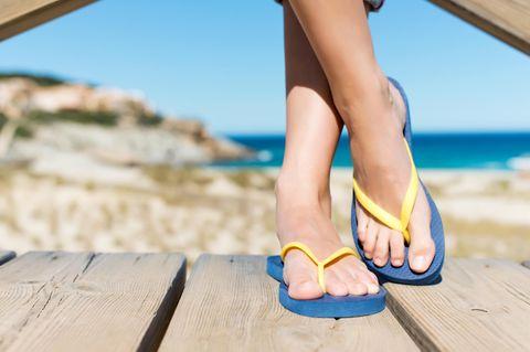 Zehentrenner - ein Flop für die Füße