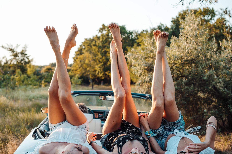 Schöne Beine im Sommer