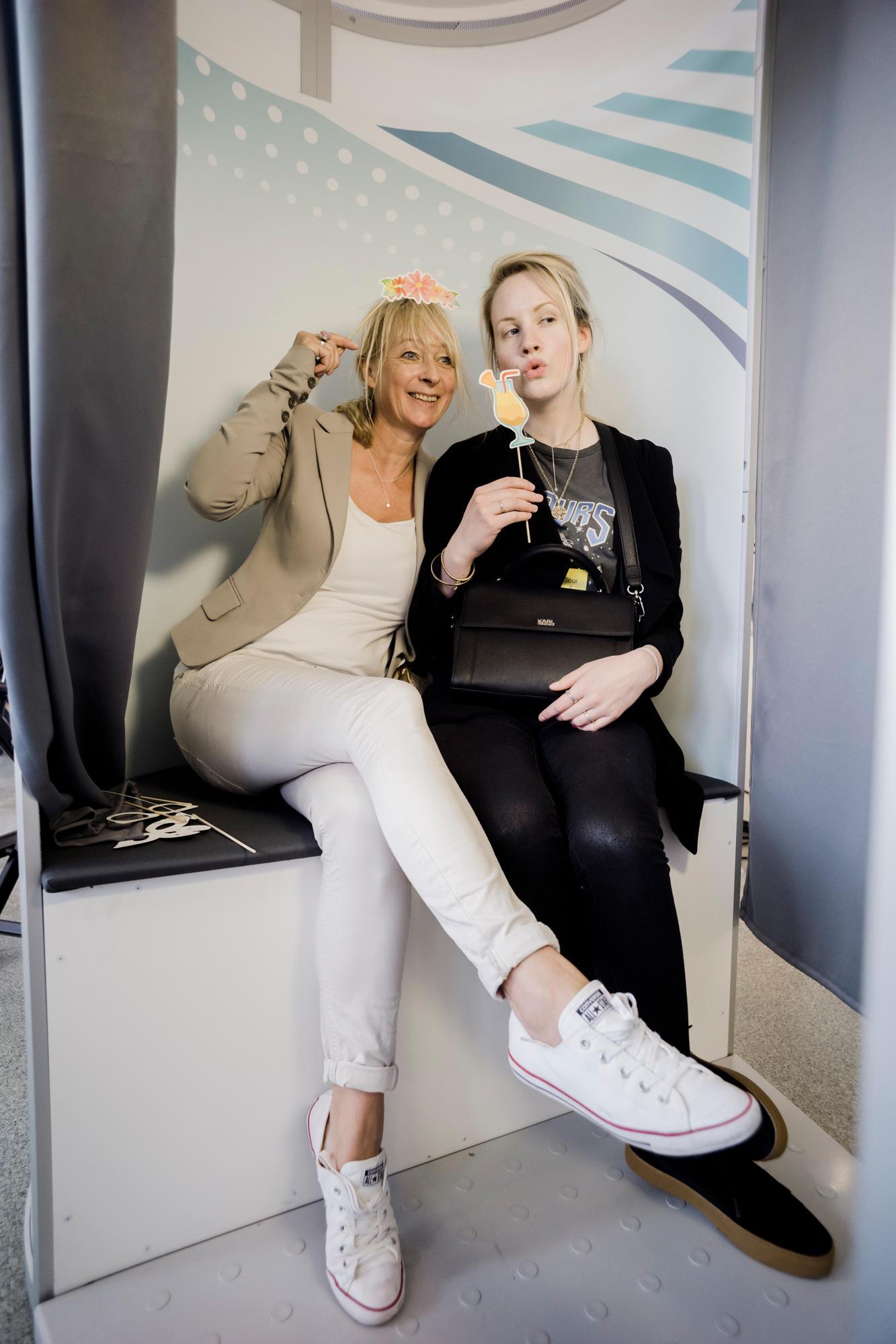 In der Sensodyne Pro Schmelz-Fotobox konnten unsere Gäste ihr schönstes Lächeln zeigen