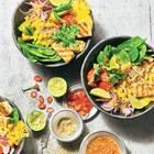 Gebratener Tofu mit Tamarinden-Soße und Ananas