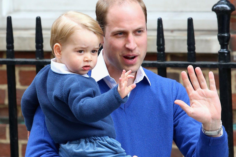 Prinz William und sein Sohn Prinz George sind unzertrennlich