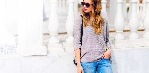 Jeans-Trend: Frau mit Jeans