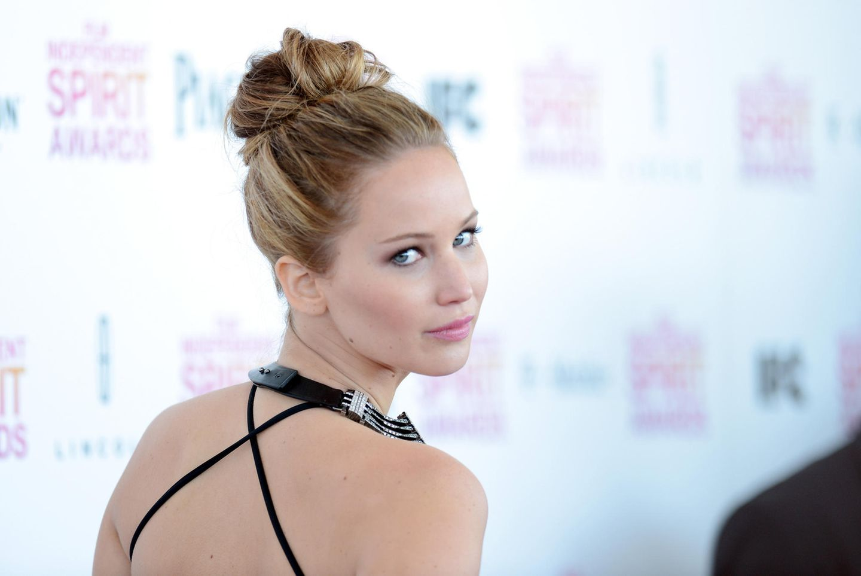 Jennifer Lawrence mit Chignon