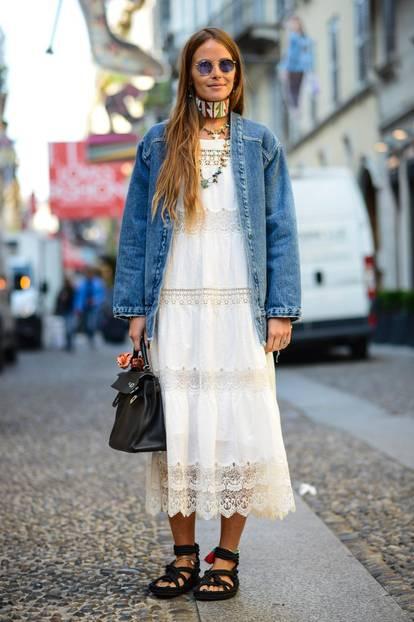 Weiße Kleider: die schönsten Streetstyle-Inspirationen