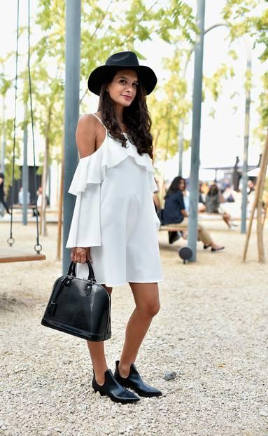 Weiße Kleider: Black and White