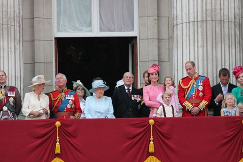 Royale Familie Trooping the Colour