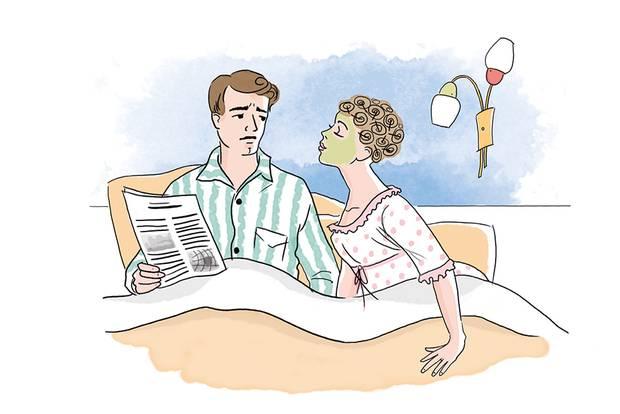 Ehetipps aus den 50ern: Paar im Bett