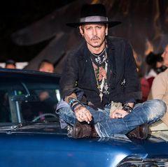 Johnny Depp in Glastonbury