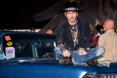Johnny Depp in Glastonbury