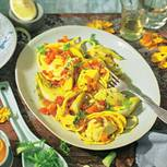Spaghetti mit Kabeljau und Fenchel im Safransud