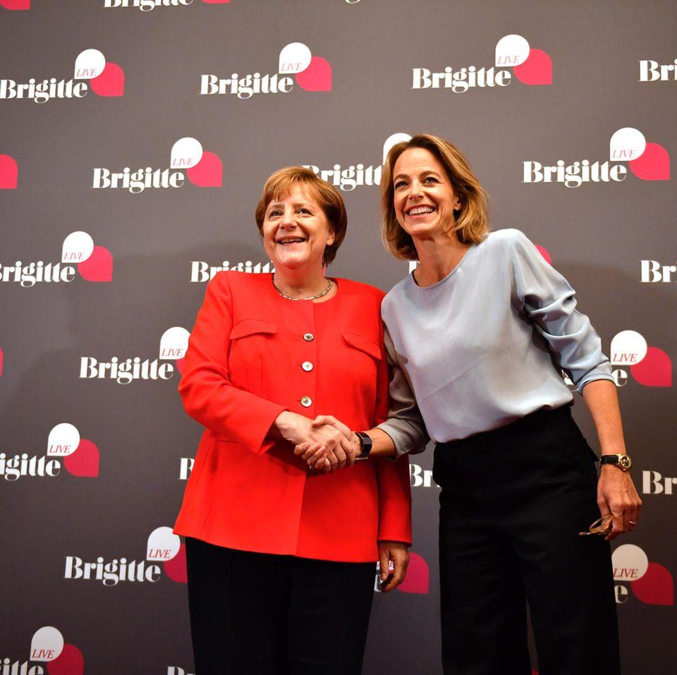Angela Merkel und Julia Jäkel
