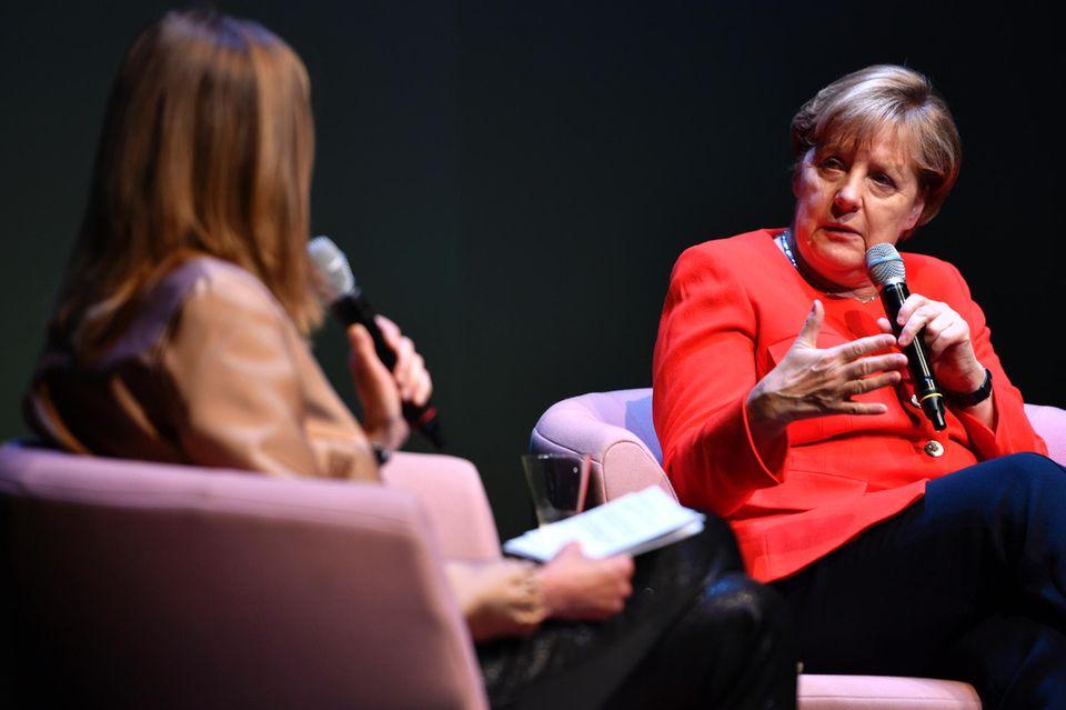 Angela Merkel bei Brigitte Live