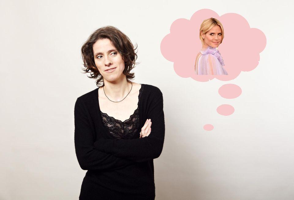 Katrin Wilkens berät Heidi Klum