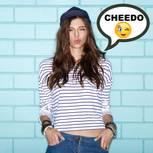 Jugendsprache: Frau Mit Sprechblase