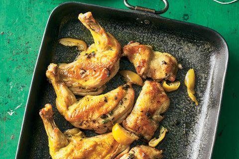 Thymian-Zitronen-Huhn aus dem Bratschlauch