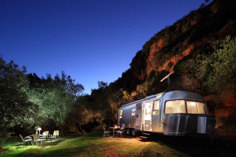Andalusien: Retro-Wohnwagen