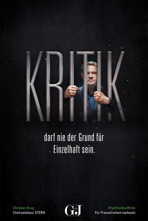 """STERN-Chefredakteur Christian Krug sagt: """"Kritik darf nie der Grund für Einzelhaft sein""""."""