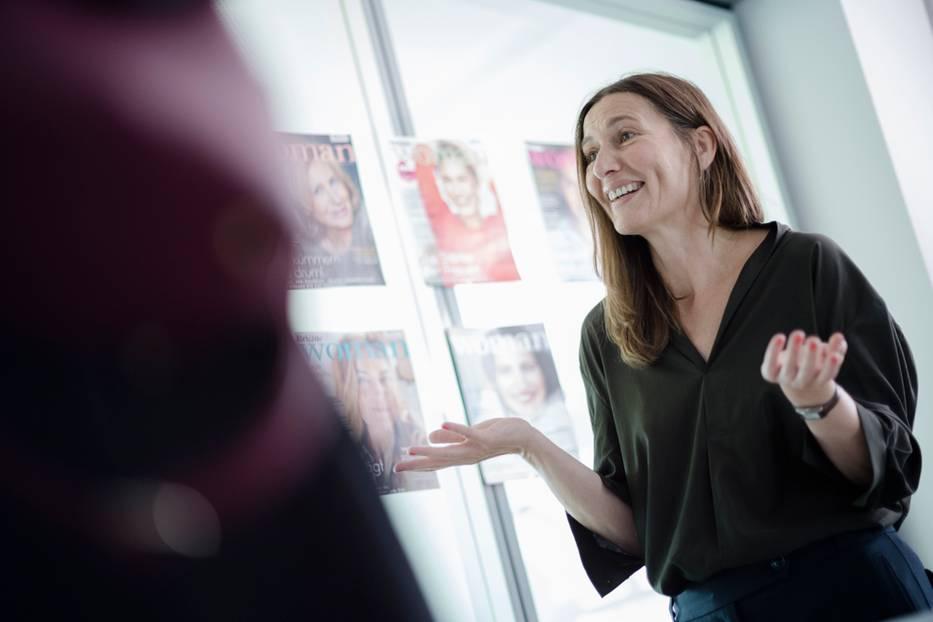 BRIGITTE-Woman-Redaktionsleiterin Christine Hohwieler wurde mit Fragen bombardiert.