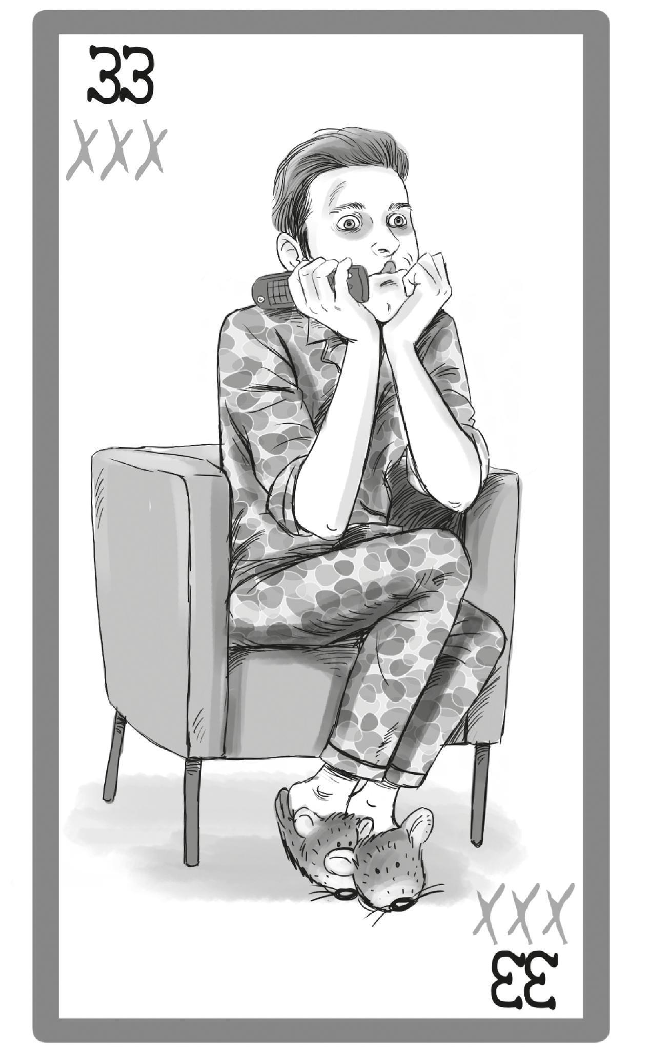 Männertypen: Illustration Porno Gucker