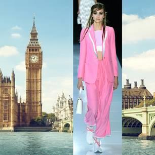 Modelle zeigen auf dem Laufsteg die Modetrends für Frühjahr/Sommer 2018