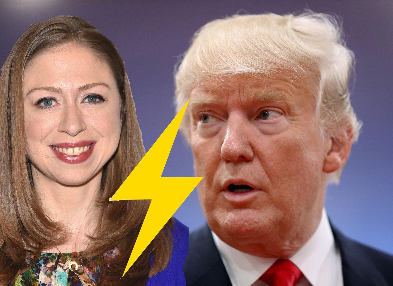 Chelsea Clinton vs. Donald Trump