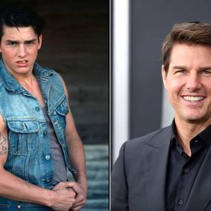 Tom Cruise mit seinen Zähnen im Vorher/Nachher-Vergleich