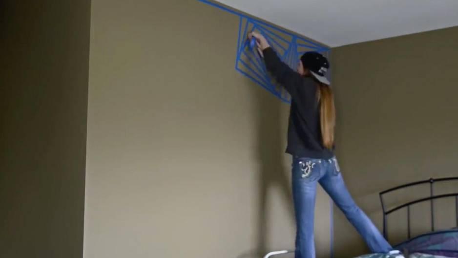 Wandgestaltung selber machen - die coolste Idee mit Klebeband!