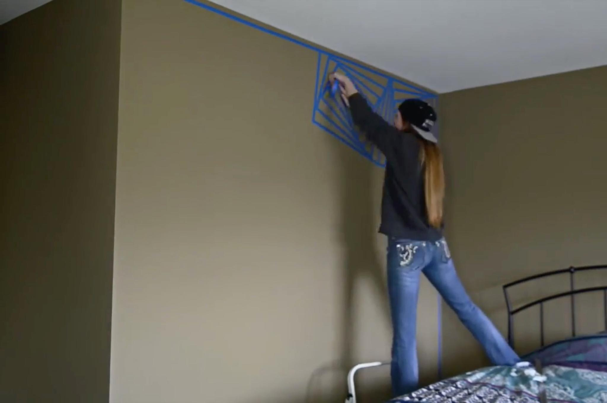 Wandgestaltung Mit Klebeband wandgestaltung selber machen - die coolste idee mit klebeband